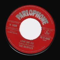 THE BEATLES Love Me Do Vinyl Record 7 Inch Parlophone 1982